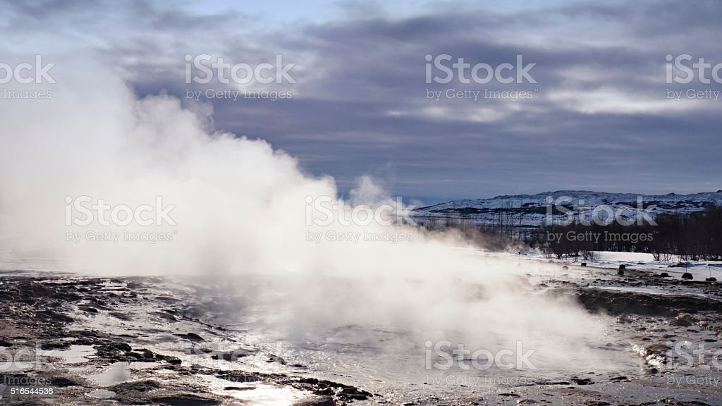 Strokkur Geyser before eruption , Iceland stock photo