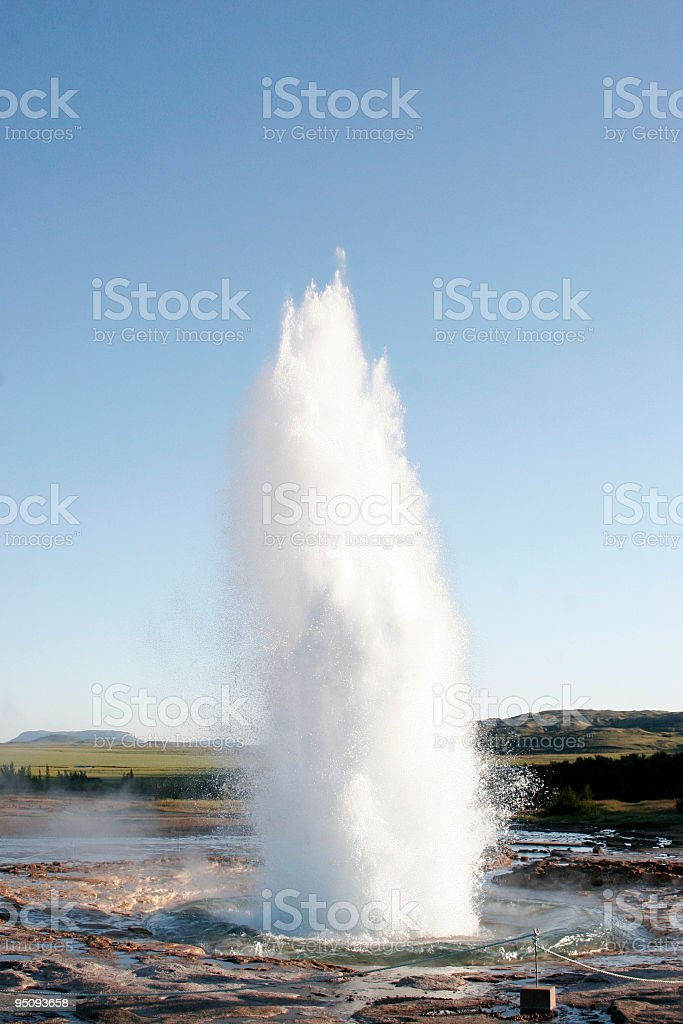 strokkur geyser erupting stock photo