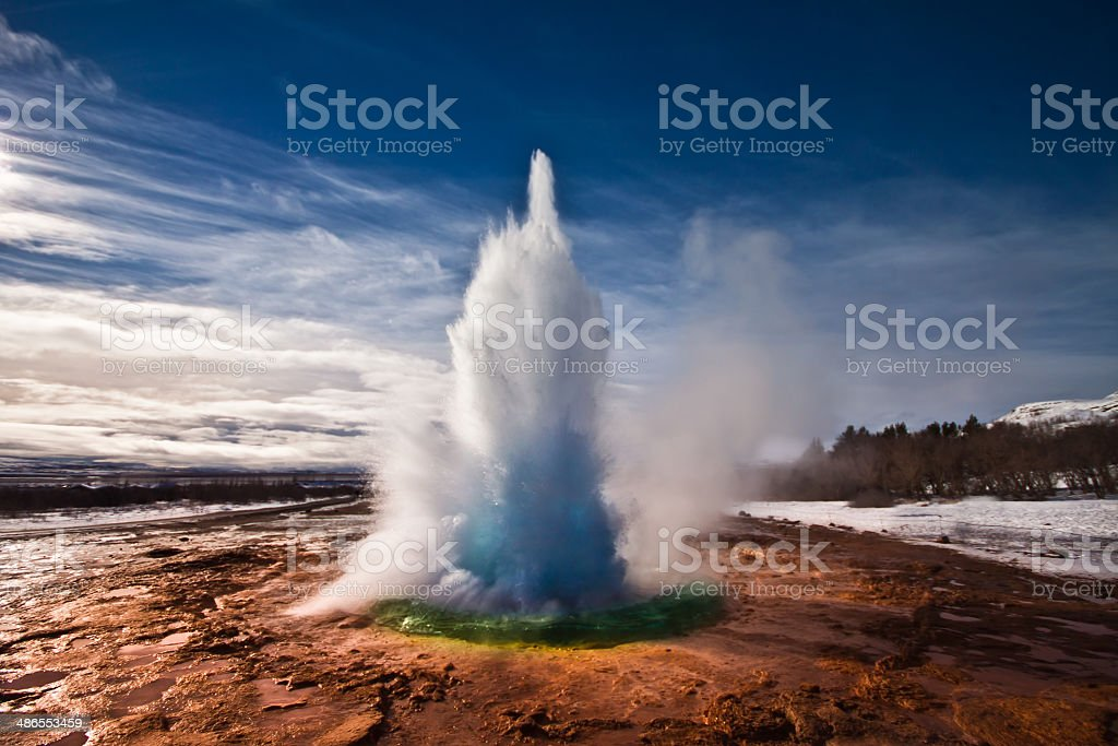 Strokkur Geyser Iceland stock photo