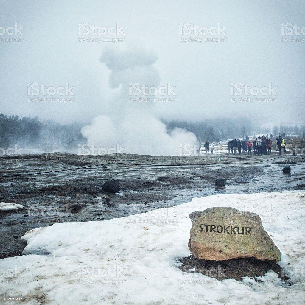 Strokkur Geyser - Iceland stock photo