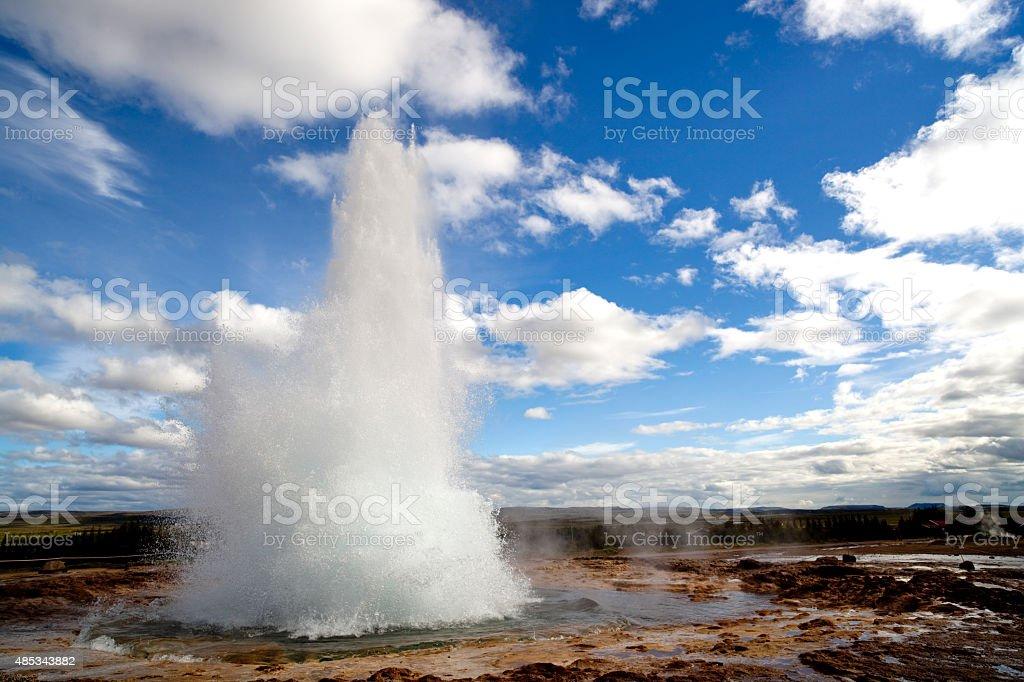 Strokkur geyser in the golden circle iceland stock photo