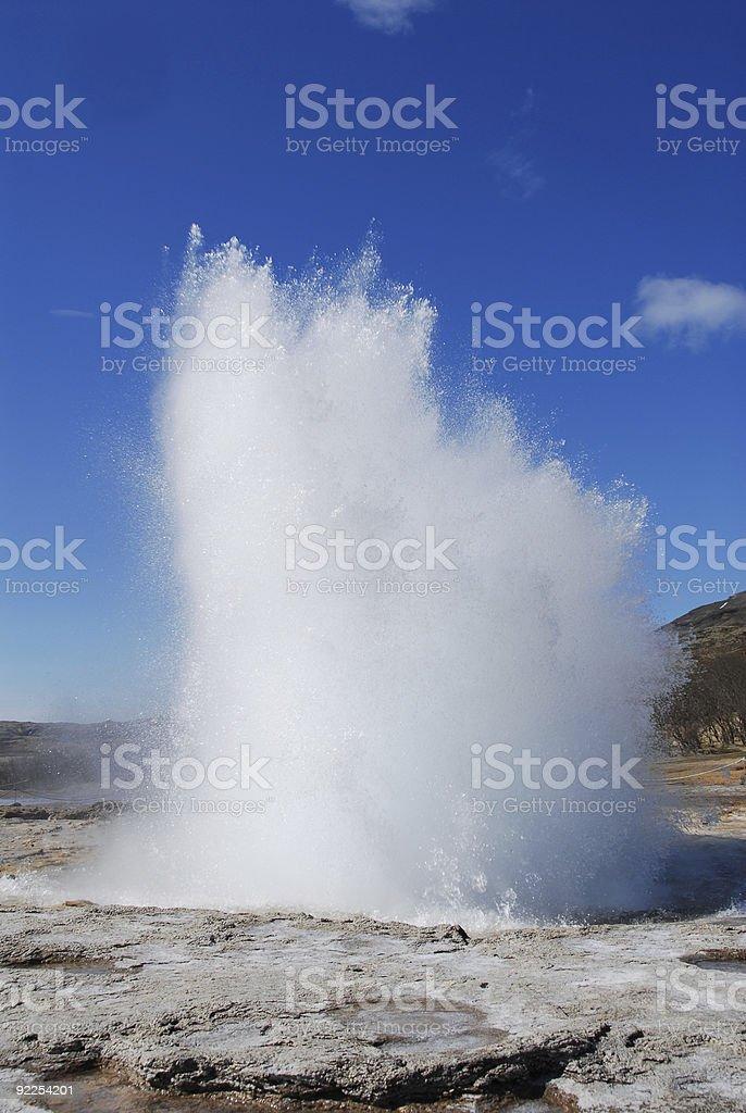 Strokkur Geysir series 'action' royalty-free stock photo