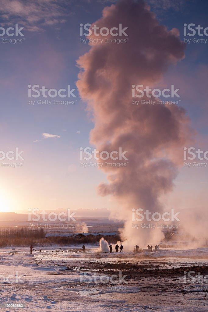 Strokkur, Haukadalur geothermal area, Iceland stock photo