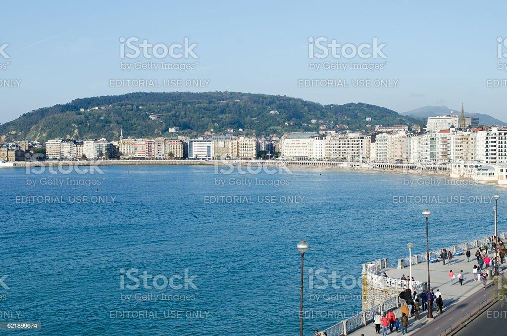 Stroll aroung San Sebastian stock photo