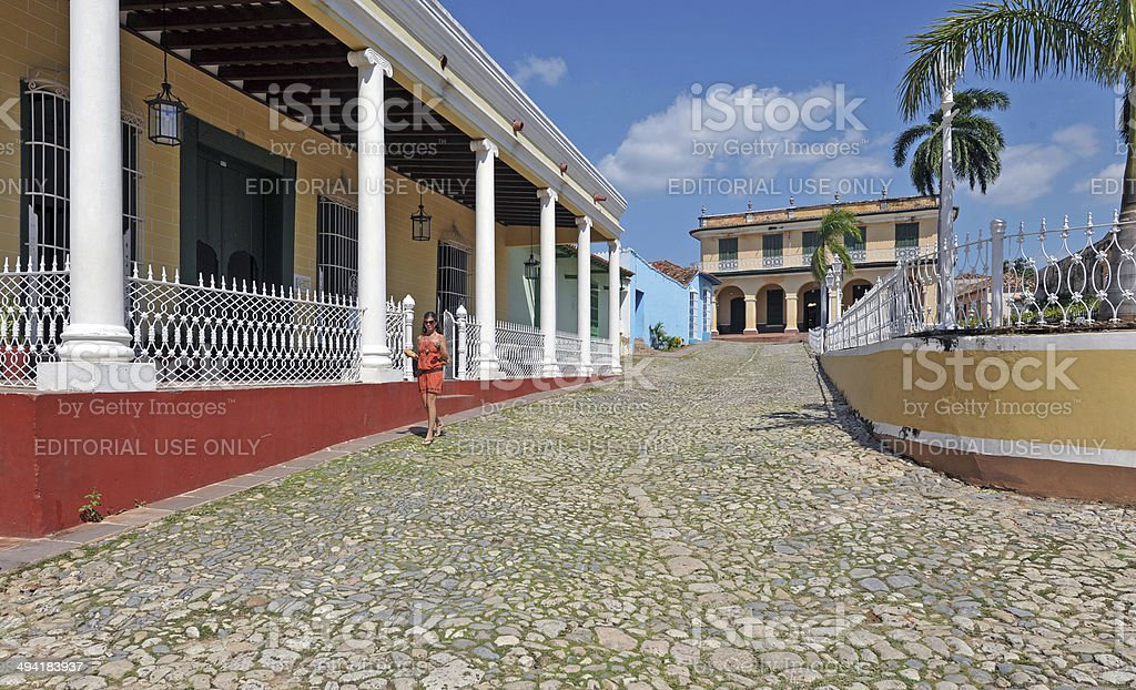 Stroll in style, Trinidad, Cuba stock photo