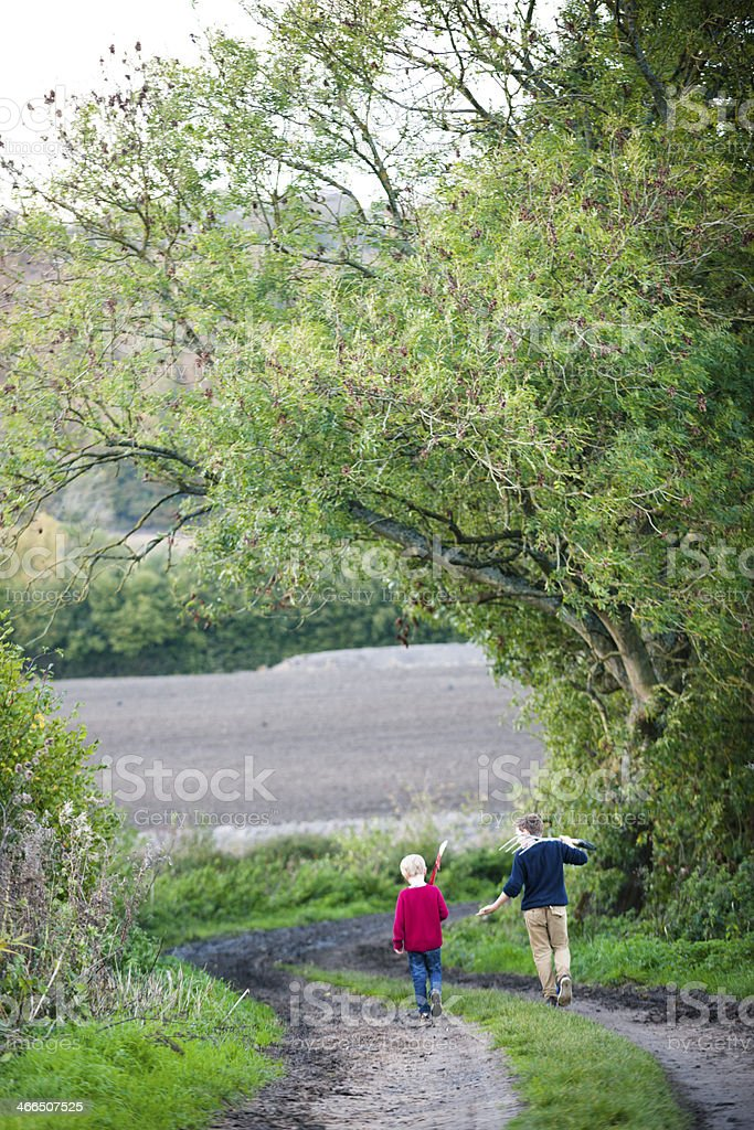 Strolling In The Outdoors royalty-free stock photo