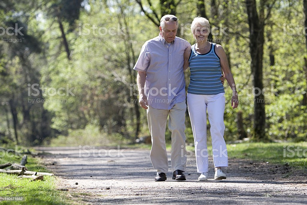 Strolling through the parc royalty-free stock photo