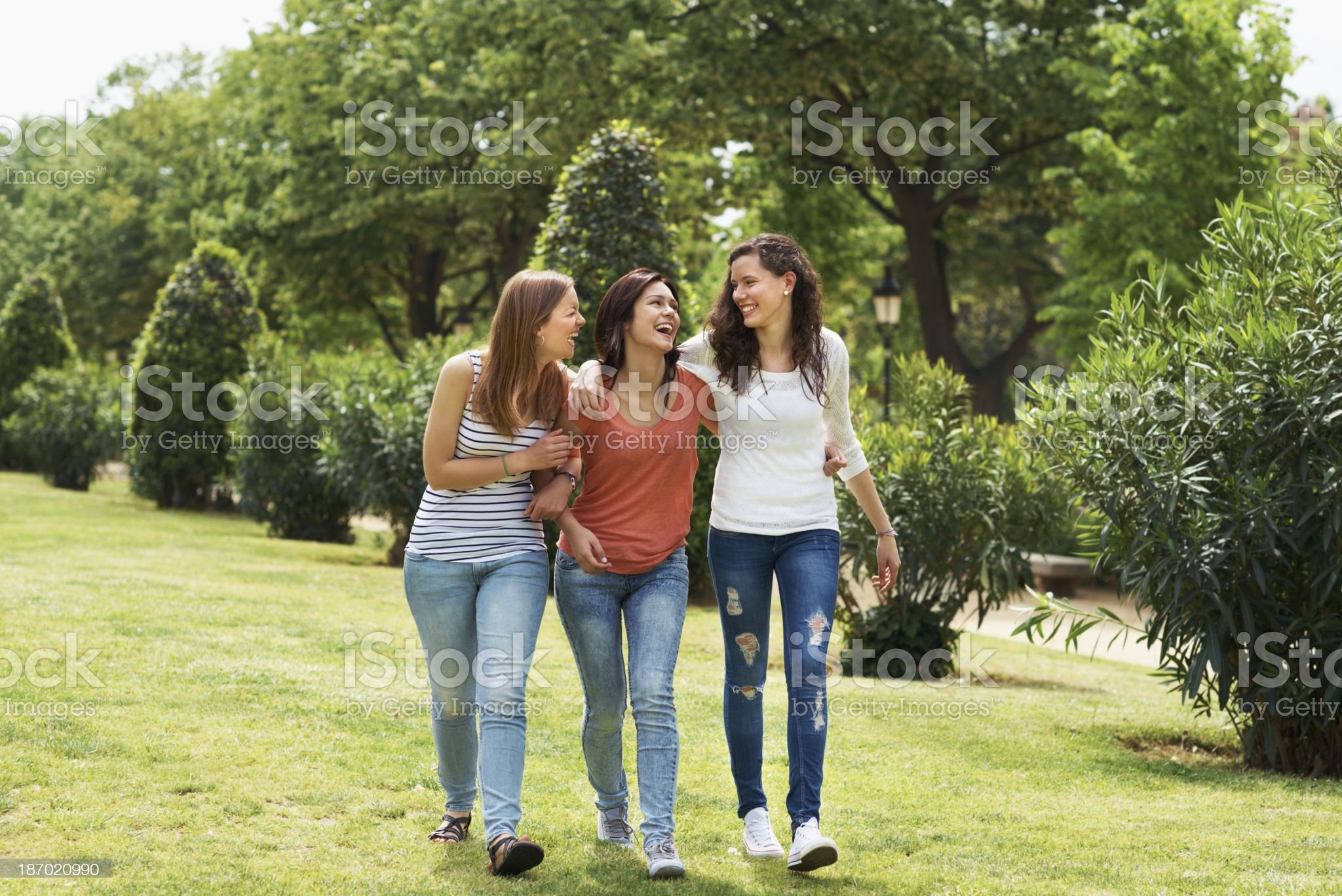 Strolling through the park royalty-free stock photo