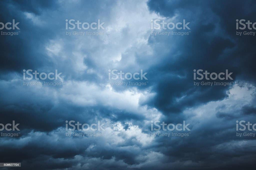 Strom cloud stock photo
