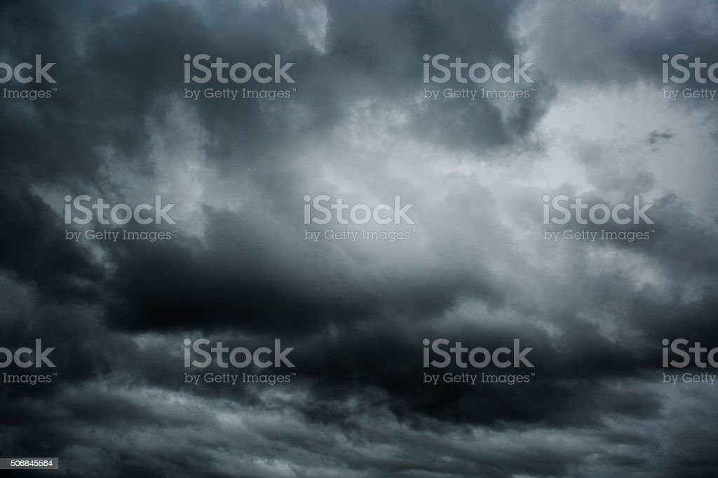 Strom dark clouds stock photo