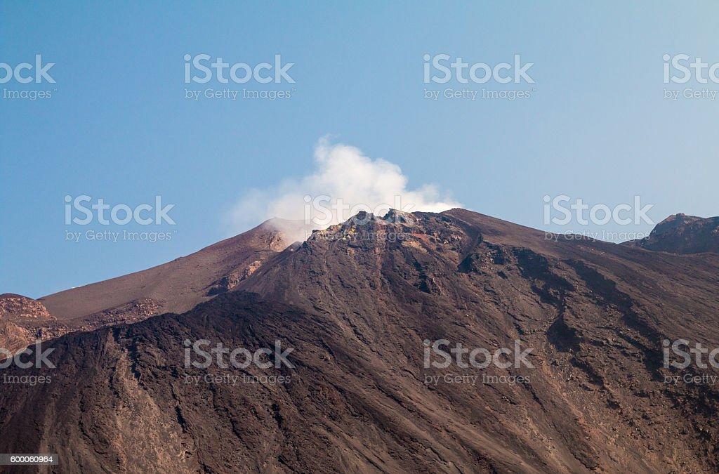 Stromboli Volcano in the Aeolian Islands, Sicily stock photo