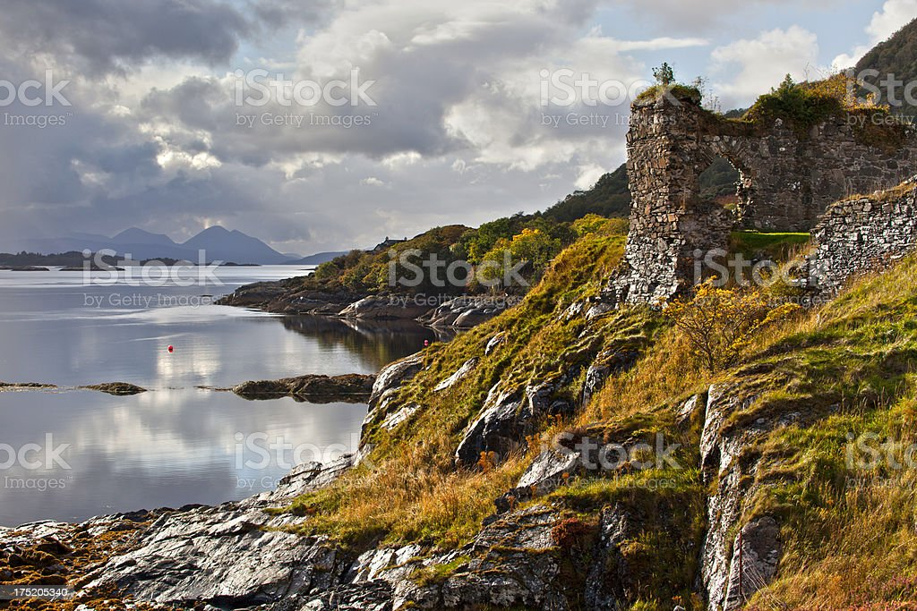 Strome Castle, Lochcarron, Highlands, Scotland. royalty-free stock photo