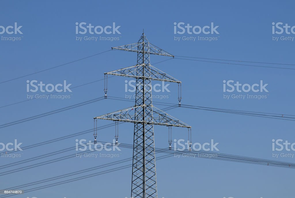 Strommast - Electricity pylon stock photo