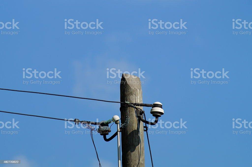 Strommast stock photo