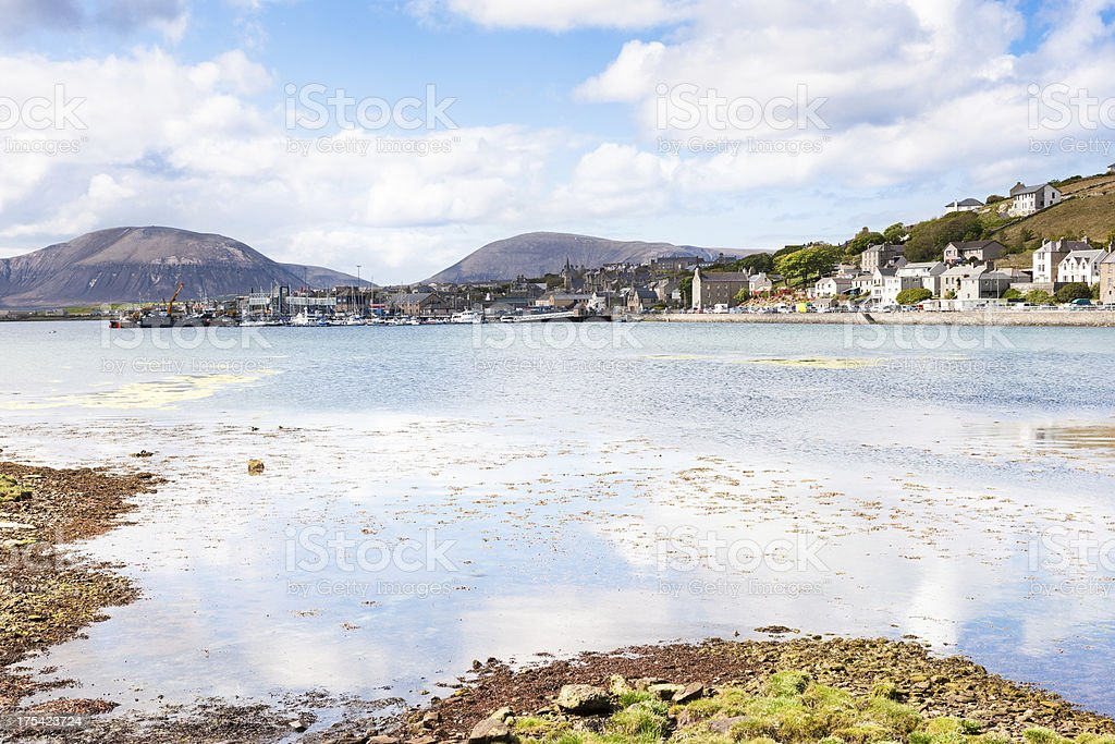 Stromness, Orkney Islands, on a calm day stock photo