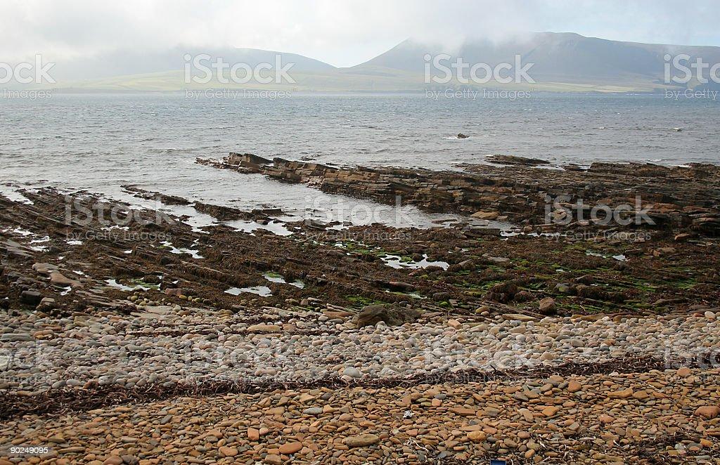 Stromness shore stock photo