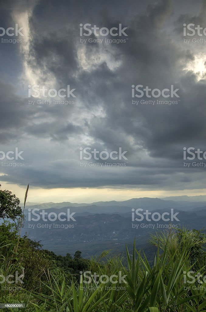 Stromy weather in Thailand royalty-free stock photo