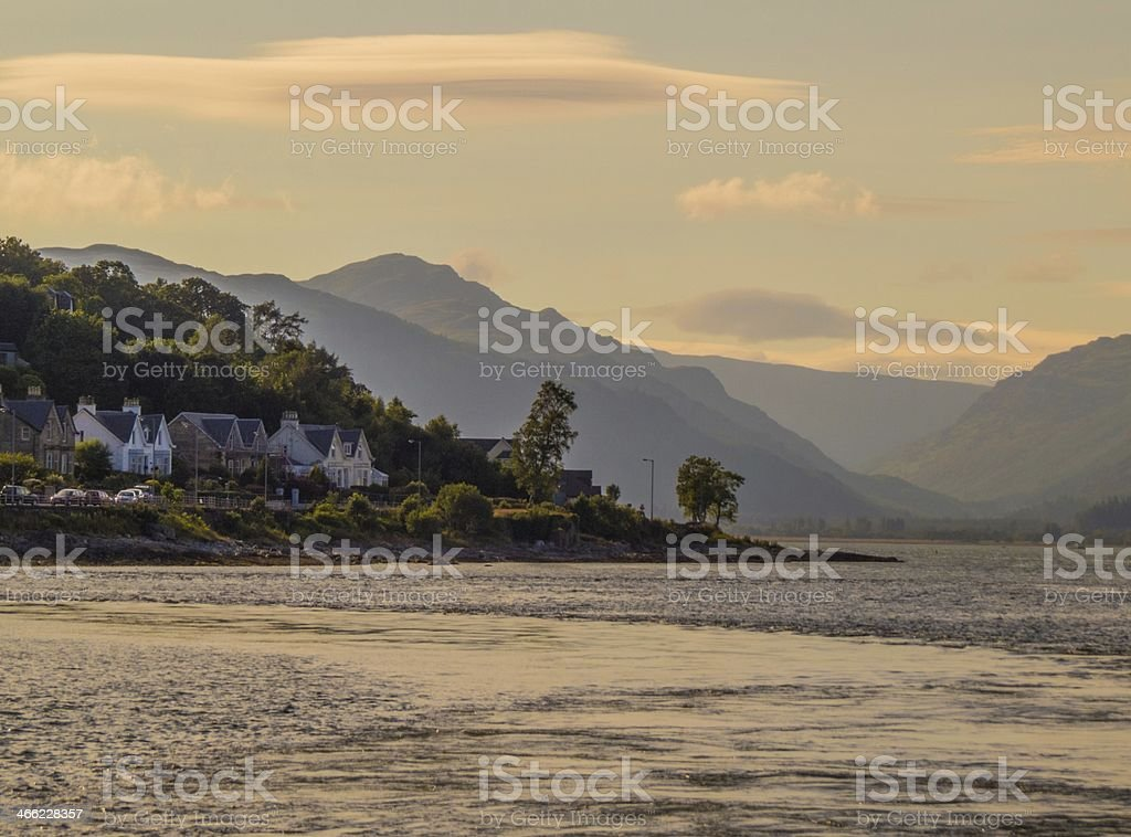Strone Point from the Sea stock photo