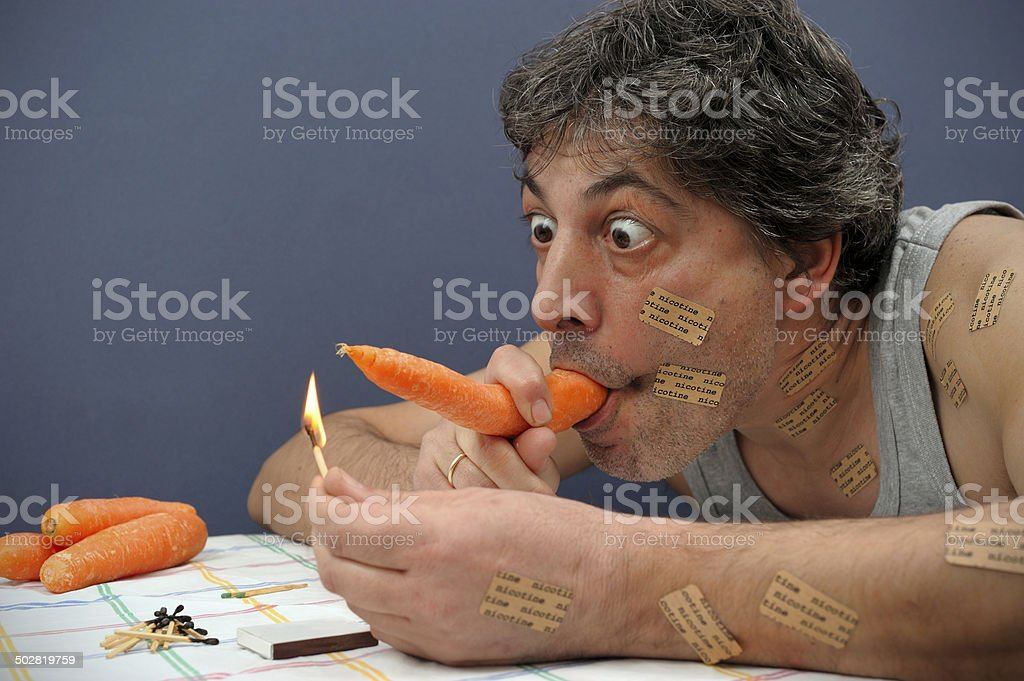 Strong Addiction royalty-free stock photo