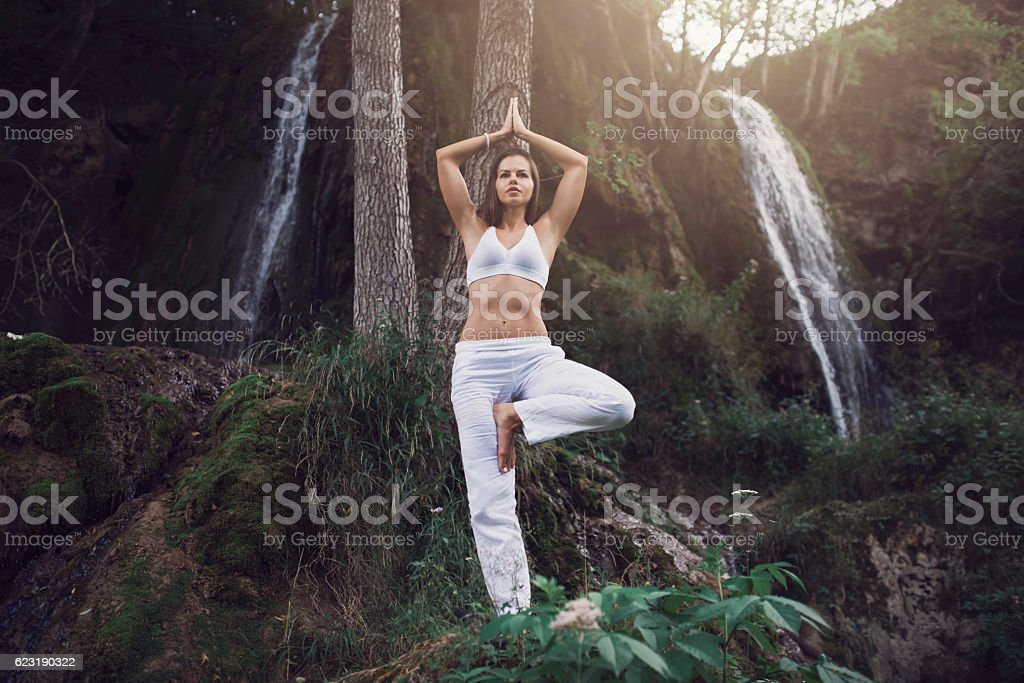Strong and balanced mind stock photo