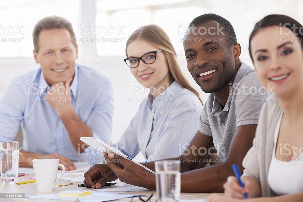 Strong and creative team. royalty-free stock photo