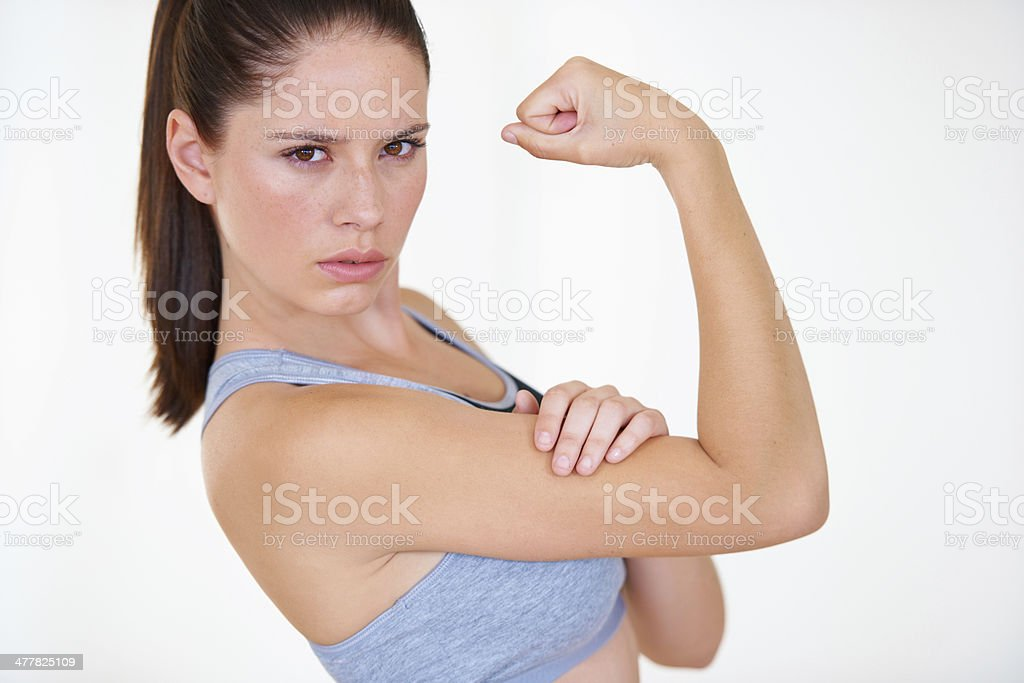 Strong and determined royalty-free stock photo