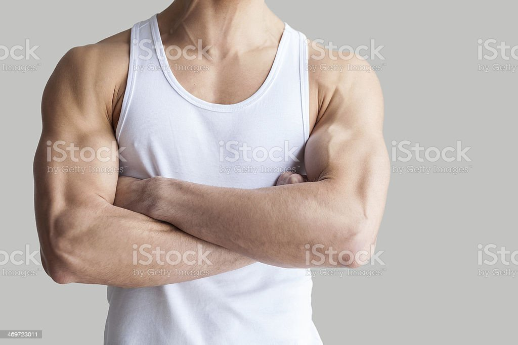 Strong and healthy body. stock photo