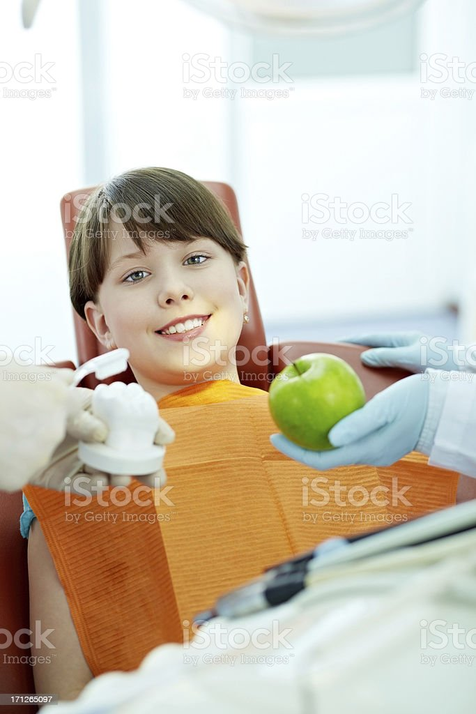 Strong and healthy teeth royalty-free stock photo
