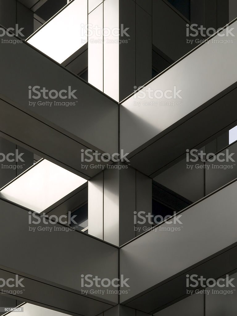 Strong architectural accent stock photo