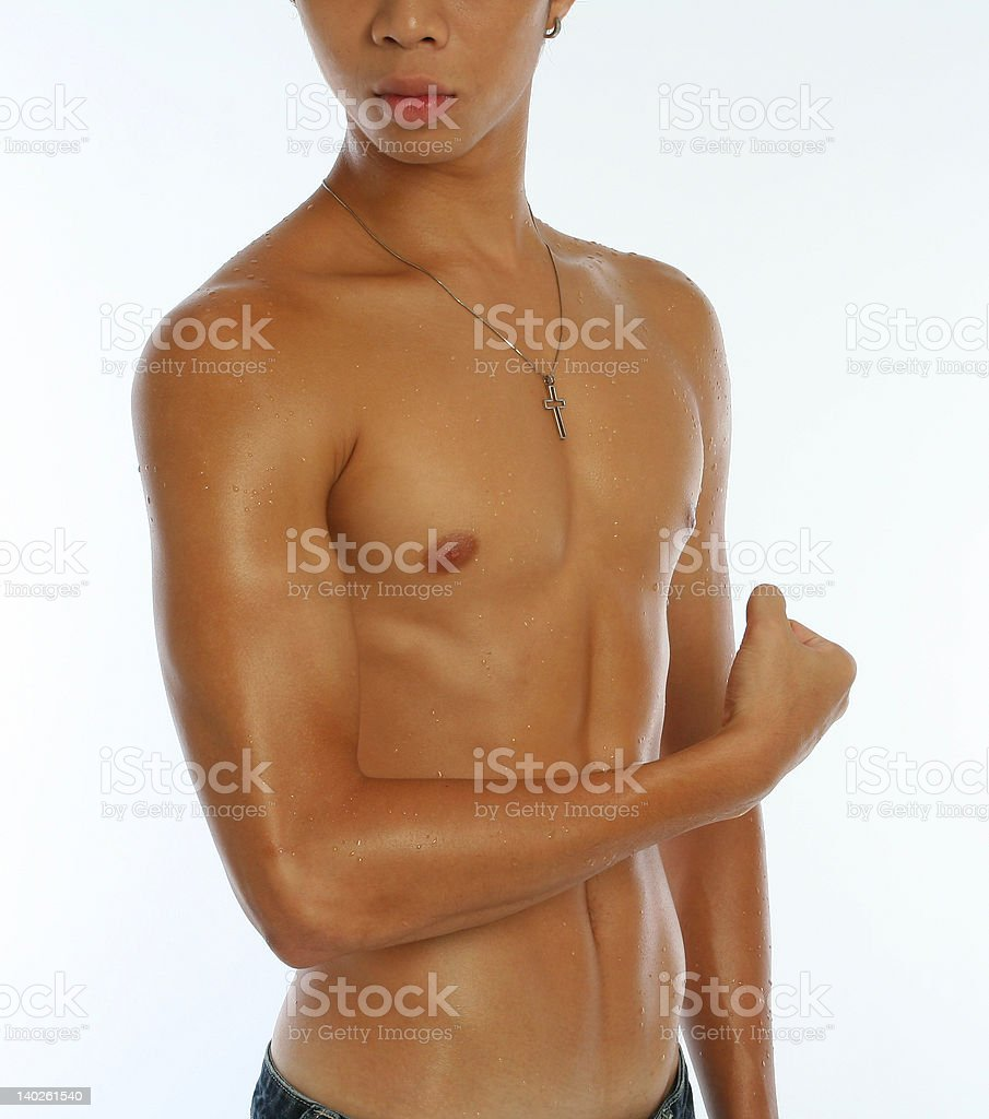 Strong Arm of Young Asian Man royalty-free stock photo