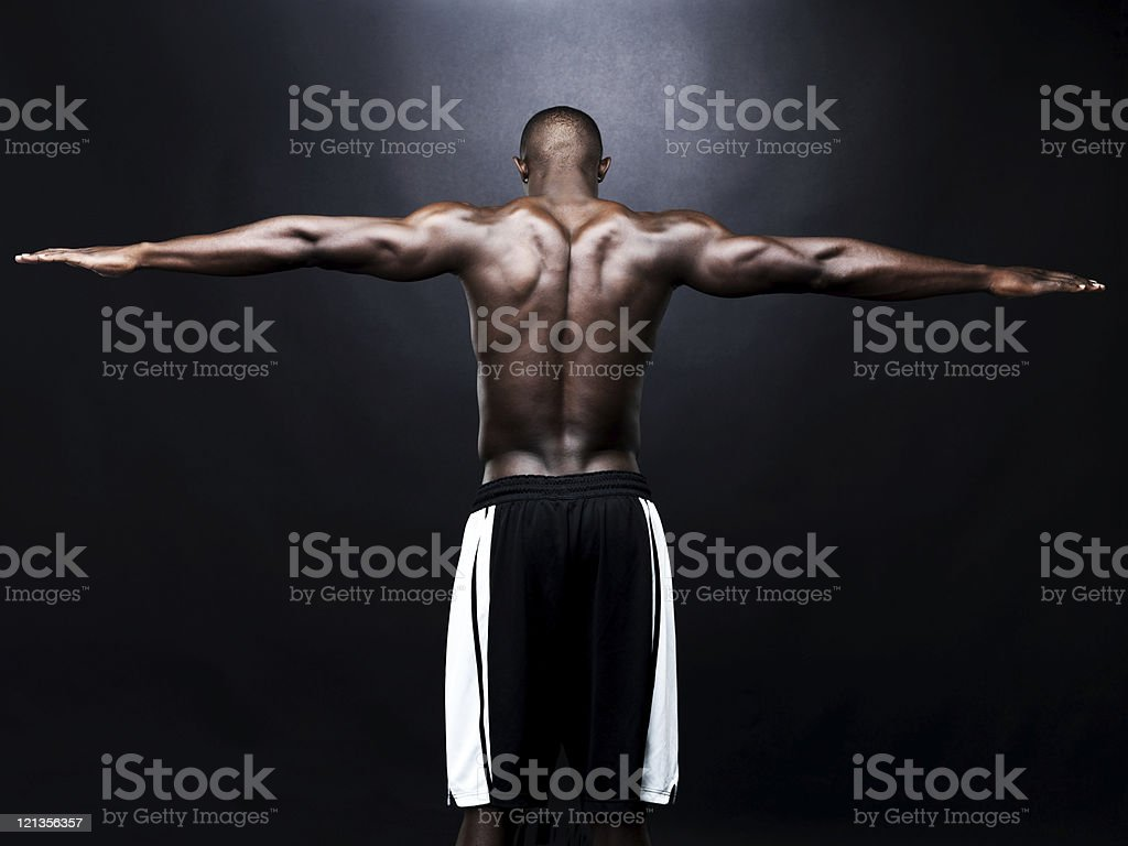 Strong back royalty-free stock photo