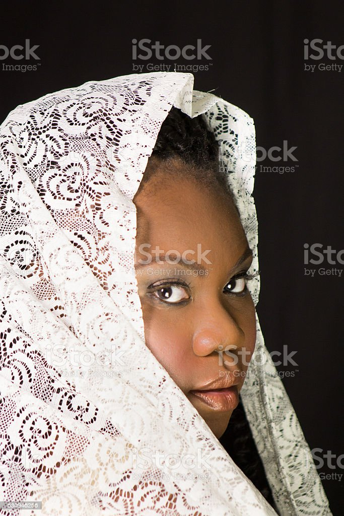 Strong, beautiful African-American woman stock photo