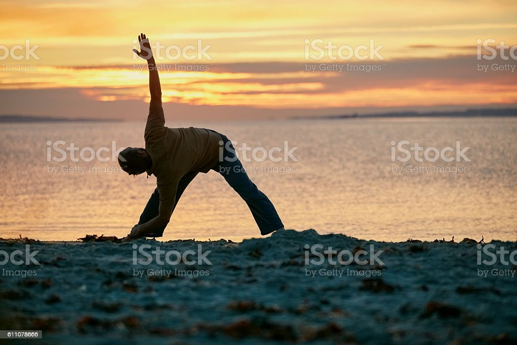 Strong body, calm mind stock photo