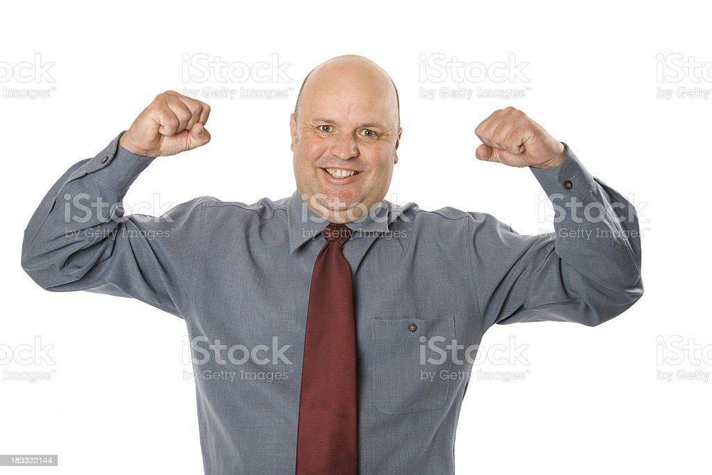 Strong Business Man royalty-free stock photo
