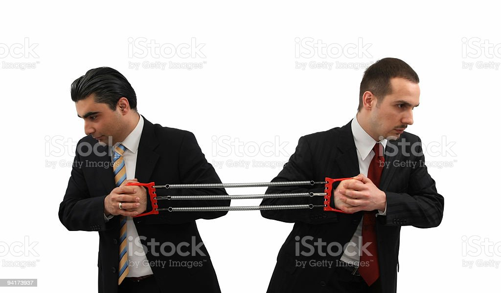 Strong Businessmen stock photo