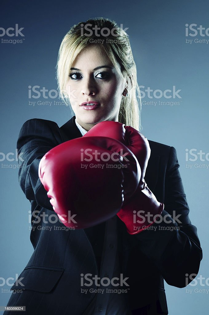Strong Businesswoman royalty-free stock photo