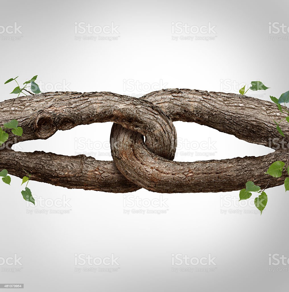Strong Chain Concept stock photo