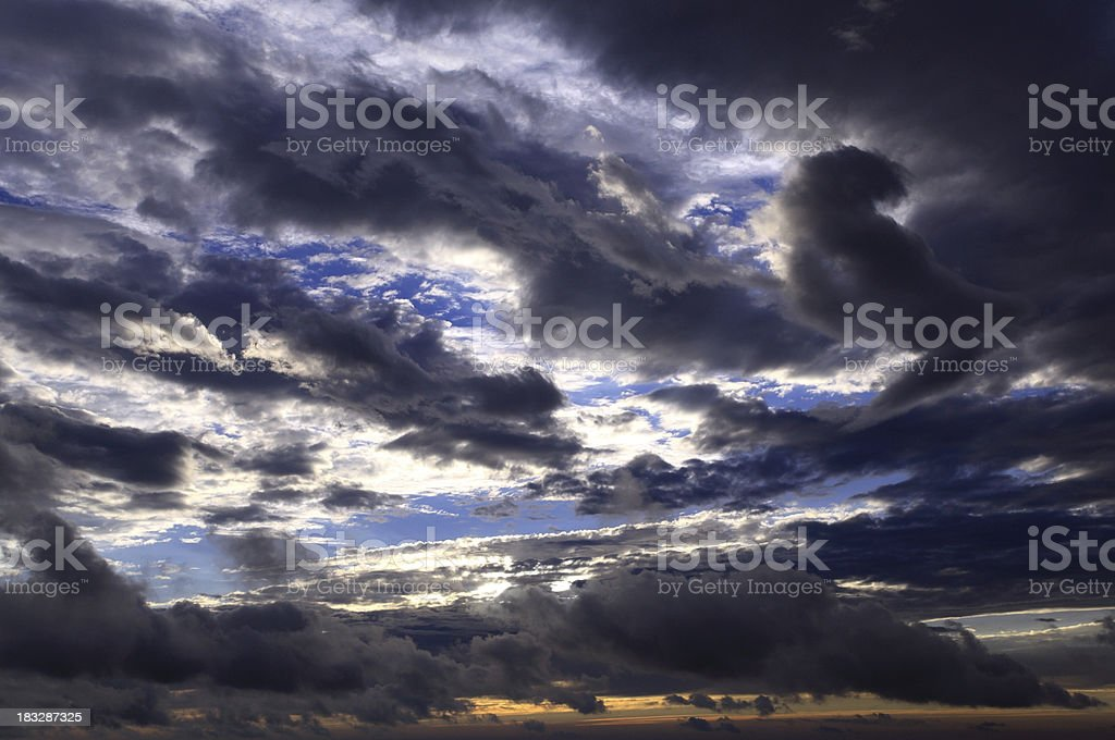 Strong clouds in the blue sky. royalty-free stock photo