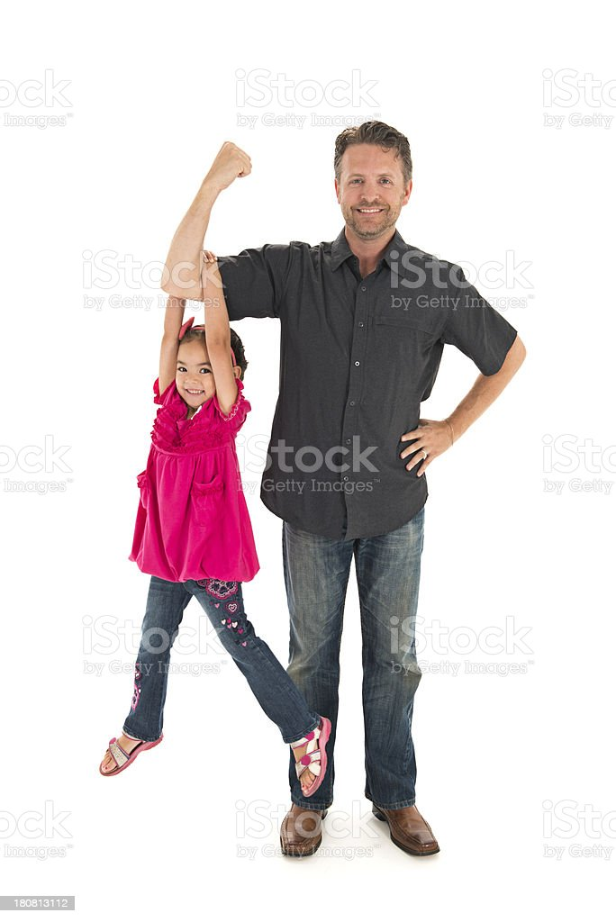 Strong Daddy stock photo