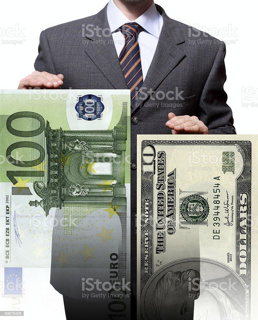 strong economy od euro vs dollar royalty-free stock photo