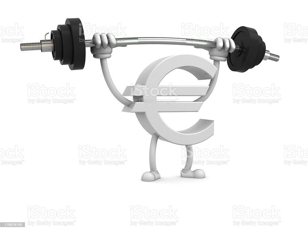 Strong euro stock photo