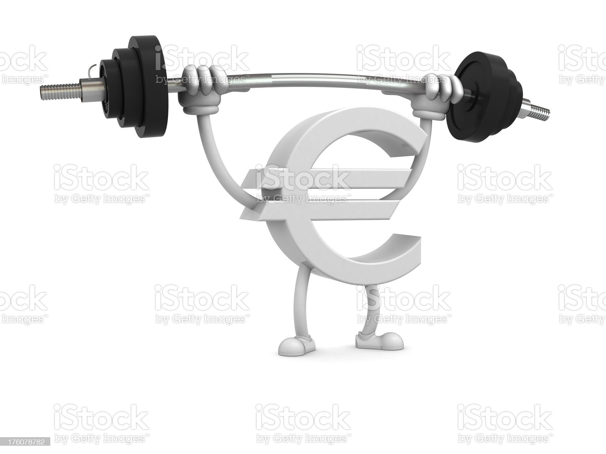 Strong euro royalty-free stock photo