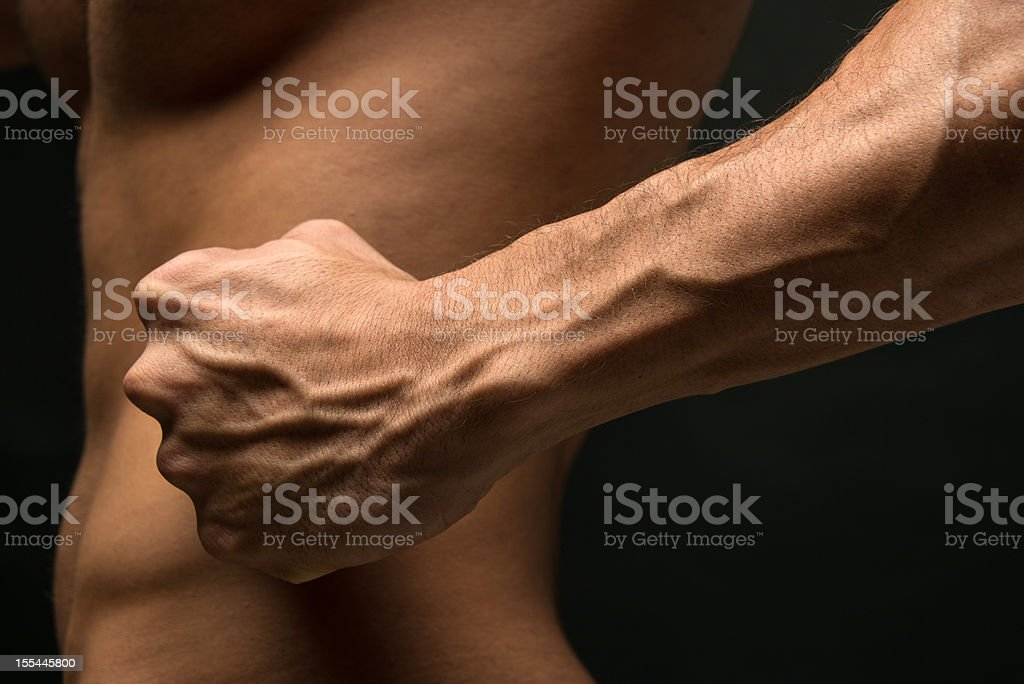 Strong forearm stock photo