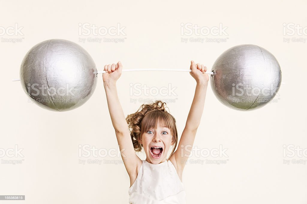 Strong girl royalty-free stock photo