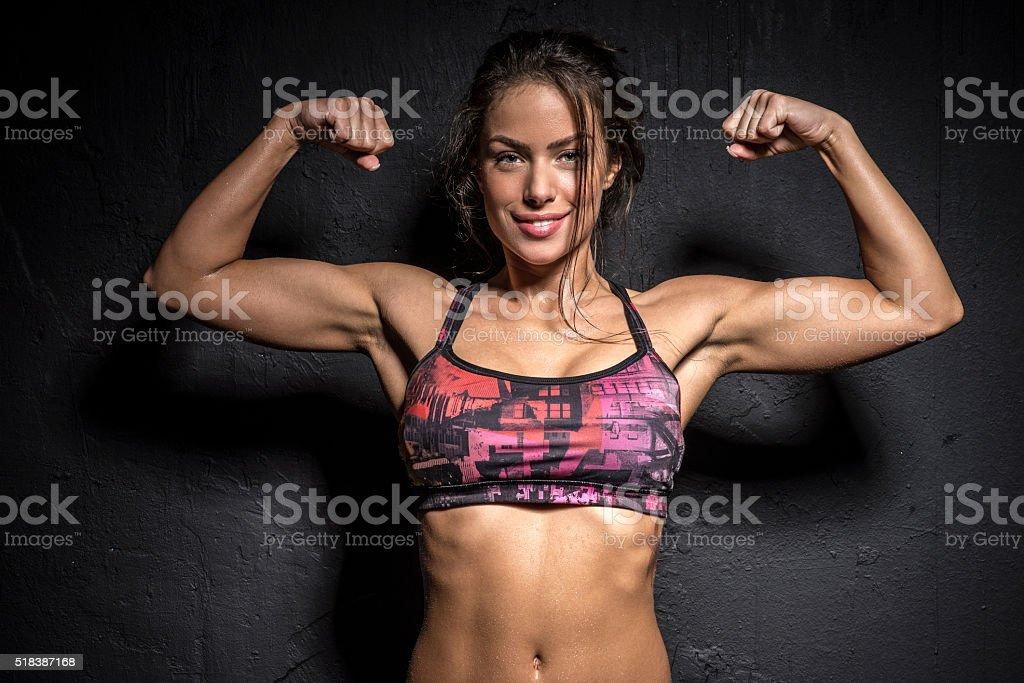 Strong Girl stock photo