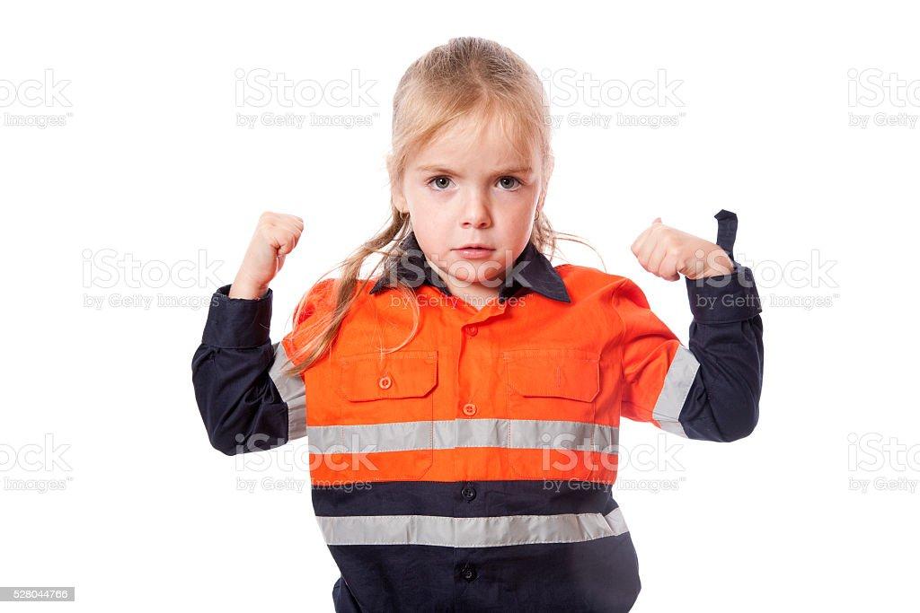 Strong Girl stock photo