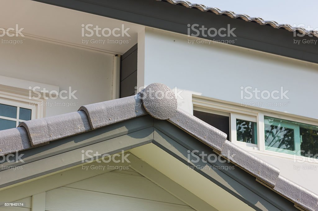 strong gray roof stock photo