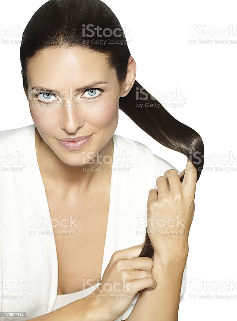 Strong Hair royalty-free stock photo