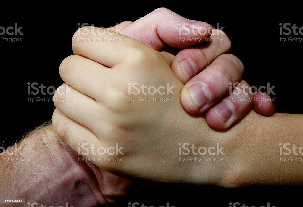 Strong hands royalty-free stock photo