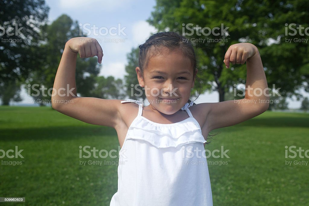 Strong Happy Girl stock photo